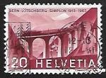 sellos de Europa - Suiza -  Ferrocarriles | Puentes
