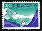 Stamps Switzerland -  Tunel S. Bernardino