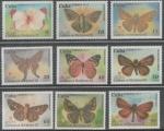 Stamps : America : Cuba :  MUSEO CUBANIA EN MARIPOSAS 3.-SERIE COMPLETA 2014