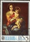 Sellos de Asia - Emiratos Árabes Unidos -  Madonna con Jesús de pie; por Bartolomé Esteban Murillo, Ras Al Khaima