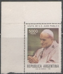 Sellos del Mundo : America : Argentina : VISITA DE S.S. JUAN PABLO SEGUNDO 1982