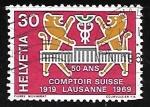 Sellos de Europa - Suiza -  Animales Estilizados