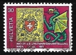 Stamps : Europe : Switzerland :  Exposiciones Filatélicas - Dragones
