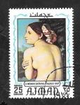 Stamps United Arab Emirates -  Ajman 107 - Mujer, de Ingres
