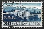 Stamps : Europe : Switzerland :  League of Nations Palace