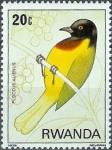 Stamps Rwanda -  Aves del bosque Nyungwe