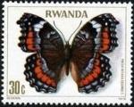 Stamps Rwanda -  Mariposas