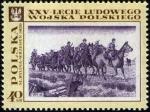 Stamps Poland -  Pinturas del Ejército Popular Polaco, 25th Anniv.