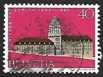 Stamps Switzerland -  University building, Zürich