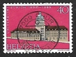 Stamps Europe - Switzerland -  University building, Zürich