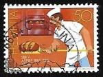 Stamps : Europe : Switzerland :  Profesiones - panadero