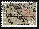 de Europa - Suiza -  Mapa con la localizacion de la batalla de 1698