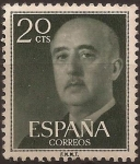 Stamps : Europe : Spain :  General Franco  1955  20 cents