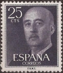 Sellos del Mundo : Europa : España : General Franco  1955  25 cents