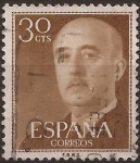 Stamps : Europe : Spain :  General Franco  1955  30 cents