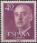 Sellos del Mundo : Europa : España : General Franco  1955  40 cents