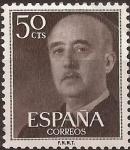 Sellos del Mundo : Europa : España : General Franco  1955  50 cents