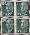 Stamps Spain -  General Franco  1955  80 cents