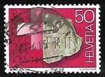 Stamps Switzerland -  Pidra con inscripcion