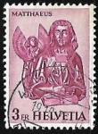 Stamps Switzerland -  Matthew with the angel