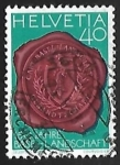 Stamps Switzerland -  Seal with Canton Basel coat of arms