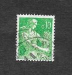 Stamps France -  939 - La Cosechadora