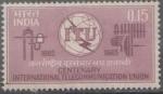 Sellos de Asia - India -  CENTENARIO DE LA UNIÓN INTERNACIONAL DE TELECOMUNICACIONES, 1865-1965