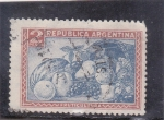 Stamps : America : Argentina :  FRUTICULTURA