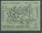 Stamps : America : Argentina :  COMBATE DE SAN LORENZO 1813-1963