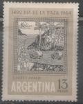 Sellos del Mundo : America : Argentina : DÍA DE LA RAZA 1492-1964