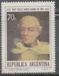 Sellos de America - Argentina -  BICENTENARIO DEL NACIMIENTO DE FRAY JUSTO SANTA MARIA DE ORO 1772-1836