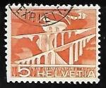 Stamps Switzerland -  Sitter Bridges