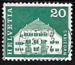 Sellos de Europa - Suiza -  Planta House, Samedan