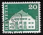 Stamps Europe - Switzerland -  Planta House, Samedan