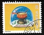 Stamps Switzerland -  Cheese fondue