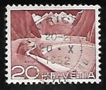 sellos de Europa - Suiza -  Diques y Represas