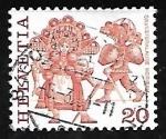 Stamps Europe - Switzerland -      Folklore | Trajes y Disfraces
