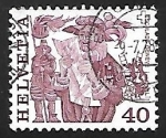 Sellos de Europa - Suiza -  Folklore | Trajes y Disfraces