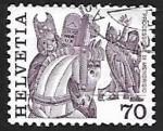 Sellos de Europa - Suiza -  Folklore | Mamíferos