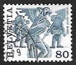 Sellos de Europa - Suiza -  Folklore