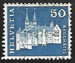 Stamps Switzerland -  Castle and Abbey Church,