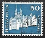 Sellos de Europa - Suiza -  Castle and Abbey Church,