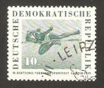 Sellos del Mundo : Europa : Alemania :  422- III festival deportivos en Leipzig, salto de altura