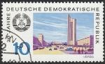 Stamps : Europe : Germany :  1199 - 20 Anivº de la R.D.A., vista de la ciudad de Leipzig
