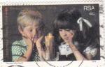 Stamps South Africa -  NIÑOS- NAVIDAD