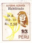 Stamps : America : Peru :  REFORMA AGRARIA