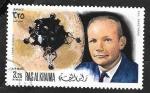 Stamps : Asia : United_Arab_Emirates :  Ras Al Khaima - Módulo Lunar y Neil Armstrong