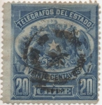 Stamps : America : Chile :  Y & T Nº 3 Telegrafo