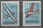 Stamps America - Argentina -  NOVENO AMPEONATO MUNDIAL DE VUELO SIN MOTOR  SERIE COMPLETA DE 2.