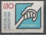 Sellos de America - Argentina -  PREVÉNGASE CAMPAÑA CONTRA LA PREVENCIÓN DE LA SEGUERA